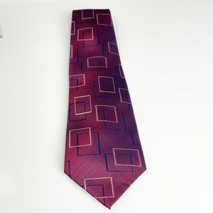 Paul Smith square maroon tie